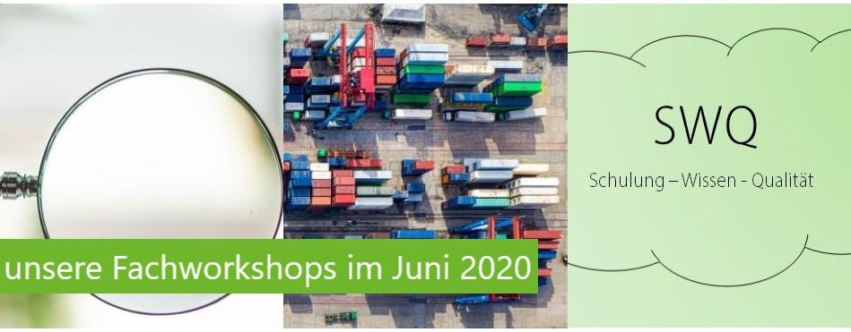 Unsere Fachworkshops im Juni 2020