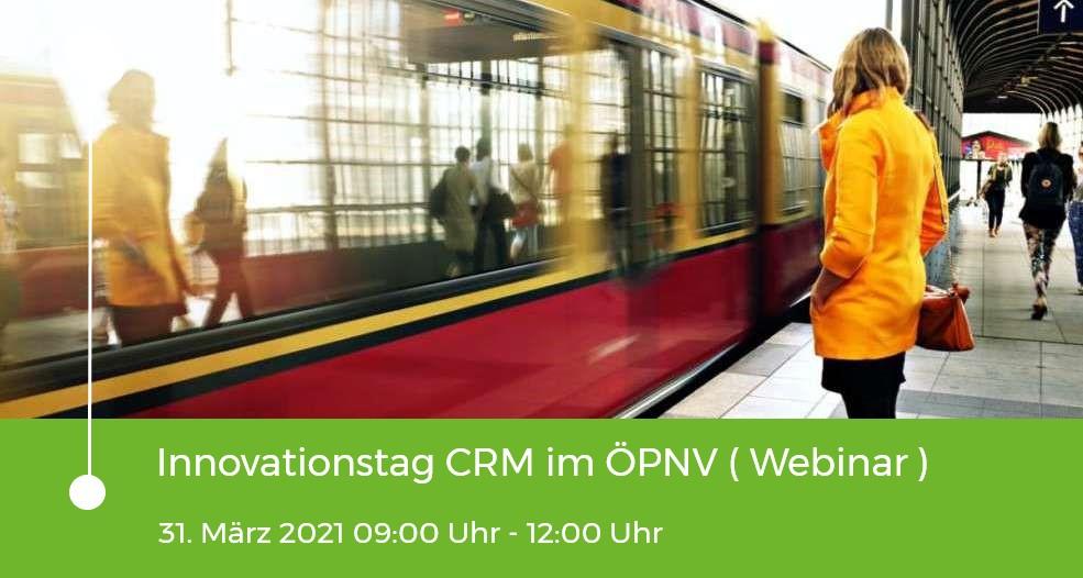 Einladung zum Webinar - Innovationstag CRM im ÖPNV